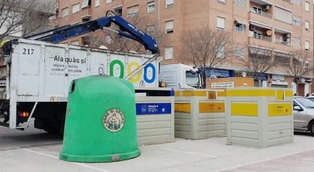 Alaquàs augmenta el percentatge de residus reciclats