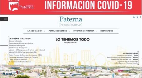 El Ayuntamiento convierte la web Paterna Ciudad de Empresas en portal de información empresarial y laboral del Covid-19