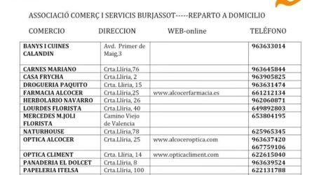 15 comercios de la Asociación de Comercios y Servicios de Burjassot sirven las compras a casa