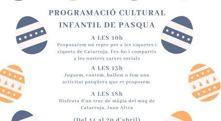 L'Ajuntament de Catarroja llança una programació cultural infantil per a les Pasqües