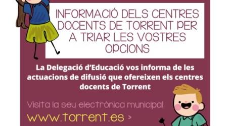 Torrent informa sobre el proceso de admisión para el nuevo alumnado de educación infantil