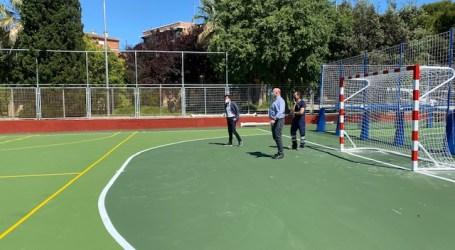 Las obras de reestructuración del campo de futbito del Parque de l'Eixereta de Burjassot casi finalizadas