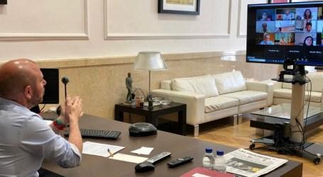 Alcaldes y alcaldesas de L'Horta Sud coordinan con el presidente de la Diputació la gestión ante la crisis de la COVID-19