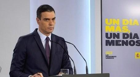 Sánchez pide apoyo a otra prórroga del estado de alarma hasta el 24 de mayo