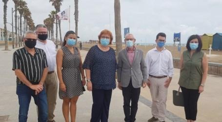 Alboraya solicita a la delegada del Gobierno una solución a la pérdida de arena de Port Saplaya