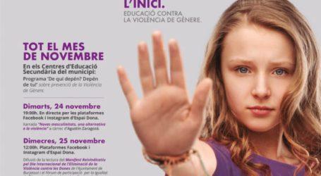 Burjassot presenta sus actividades con motivo del Día Internacional para la Eliminación de la Violencia de Género