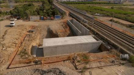 Adif avanza en las obras de construcción de una nueva estación de Cercanías en Albal