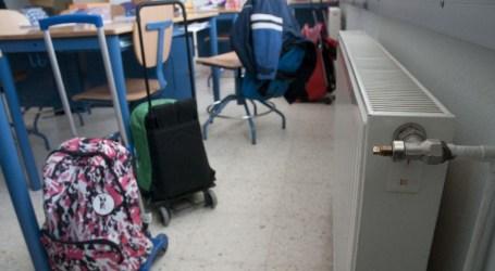 Los centros escolares encienden sus calefacciones hoy domingo para esperar mañana a los alumnos