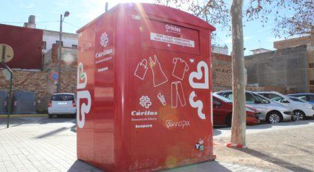 Almàssera recoge 20.544 kg de residuos urbanos de ropa y calzado en 2020