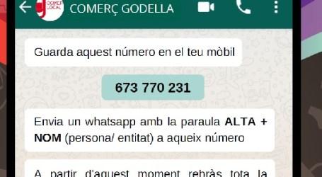 Godella crea una llista de difusió de whatsapp per a oferir la informació als comerços, professionals i autònoms de la localitat