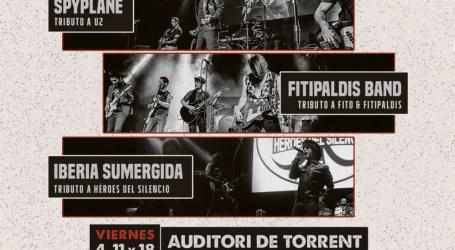 Torrent acoge tres conciertos tributo a U2, Héroes del Silencio, y Fito y los Fitipaldis