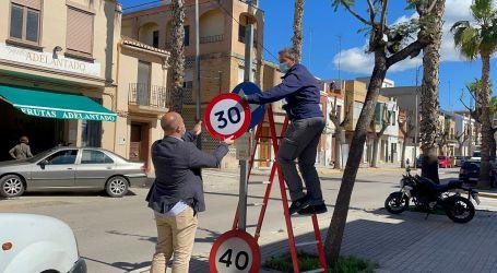 Las calles de Massamagrell se adaptan a la nueva normativa de velocidad