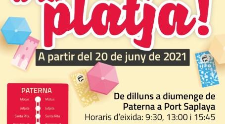 Paterna pone en marcha el domingo 20 de junio el Bus a la Playa