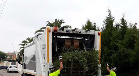 Paterna reforzará el servicio de recogida domiciliaria de poda desde el 15 de junio
