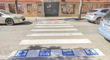 Alfafar trata de mejorar con pictogramas la seguridad vial