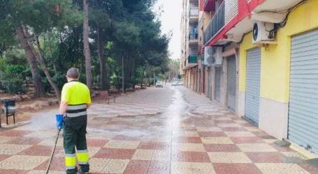 Paterna refuerza la limpieza de calles y zonas peatonales de cara a la celebración de la programación cultural segura