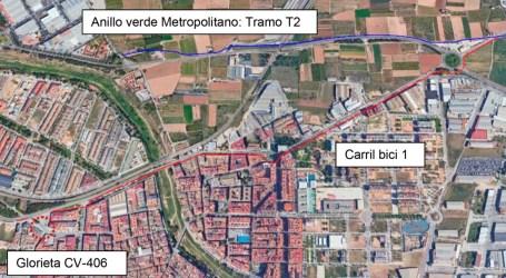 Dos nous trams de carril bici de 2,8 quilòmetres a Paiporta per a connectar amb l'anell verd metropolità