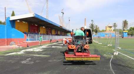 Albal finalitza els treballs d'ampliació i accessibilitat de les graderies del camp de futbol municipal Pepe Paredes