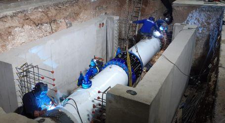 La Emshi instala otra toma de emergencia que asegura el suministro de agua en alta en Moncada y Alfara del Patriarca