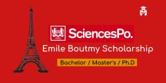 منحة إيميل بوتمي لدراسة البكالوريوس والدراسات العليا في فرنسا (ممولة بالكامل)