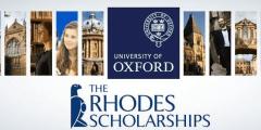 منحة Rhodes للدراسات العليا في جامعة أكسفورد في المملكة المتحدة (ممولة بالكامل)