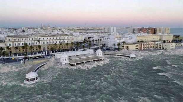 Recreación de un Tsunami en Cádiz