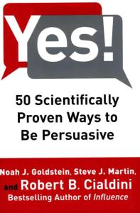 Cialdini 50 scientifically persuasive