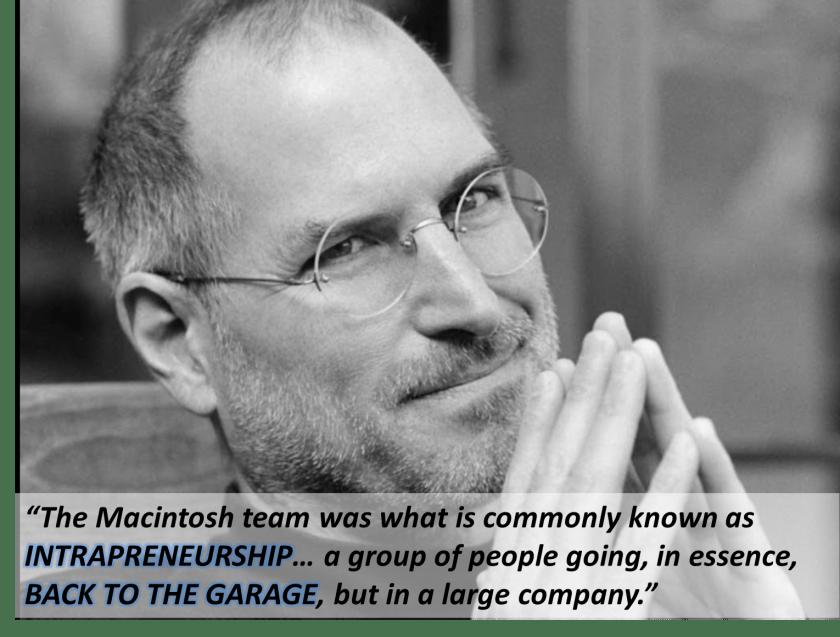 Qué es el intraemprendimiento (Steve Jobs)