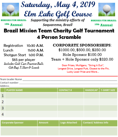 Birdies for Brazil - Elm Lake