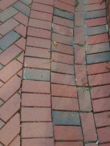 Brick Floor at the Virginia State Capitol Fountain