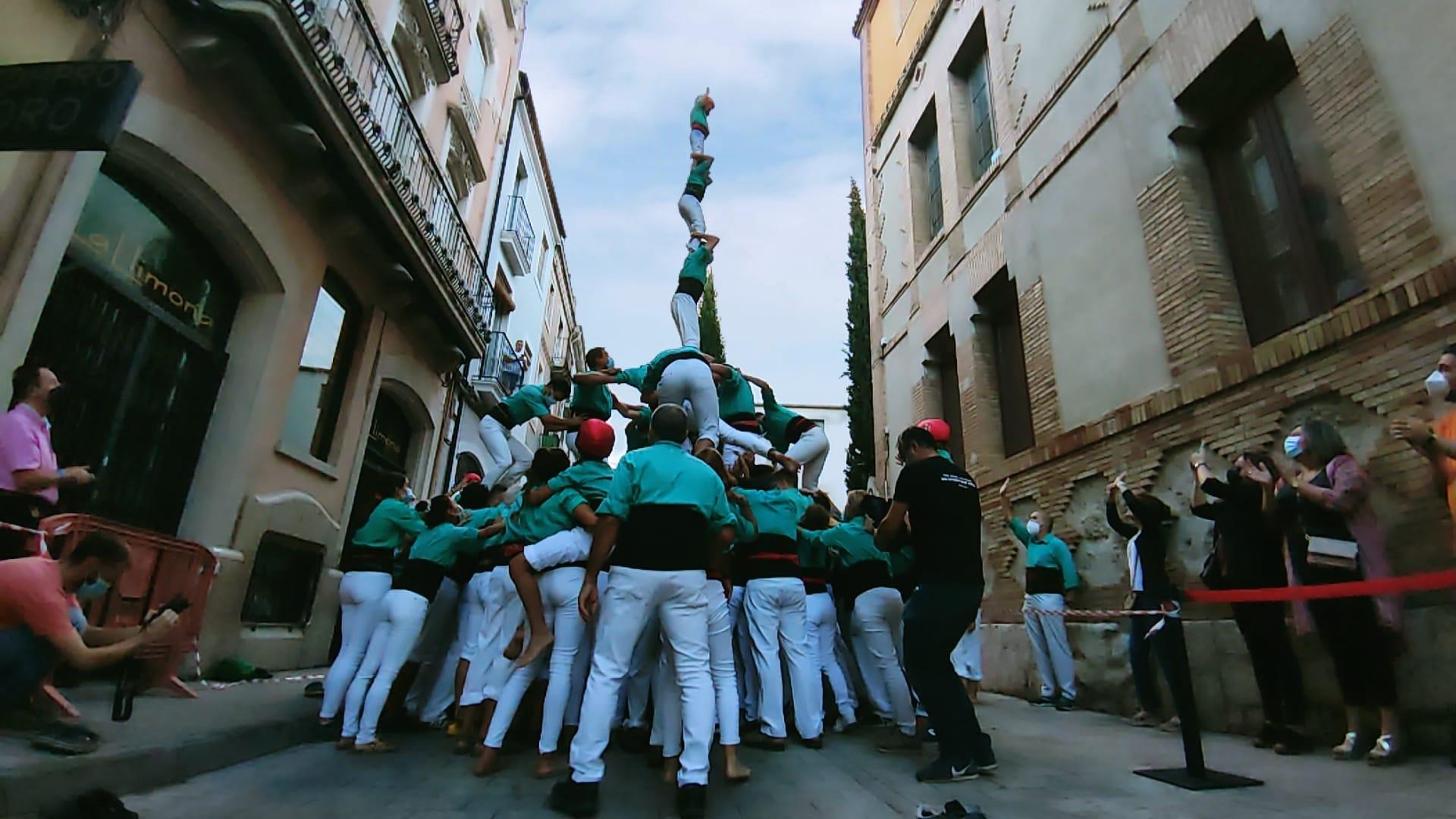 Els Castellers de Vilafranca tornen a plaça amb tres castells de 7