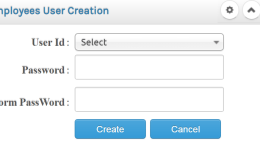 User Creation Option