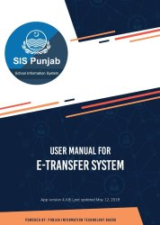 SED E-Transfer Manual Step by Step User for Teachers page 1