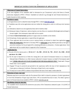 FPSC 04 FPSC Latest Jobs