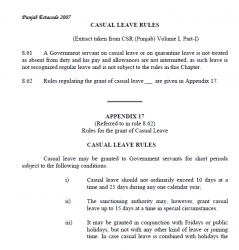 C.Leave Rule and Regulation