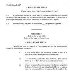 C.Leave Rules 2007