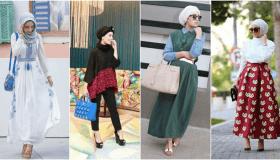 أحدث تصميمات أزياء عيد الأضحى 2019 للمحجبات بالصور