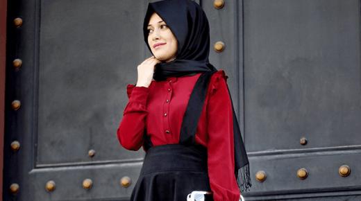أحدث تصميمات أزياء قطيفة شتوية 2019 للبنات المحجبات بالصور