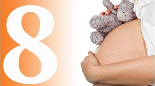 ما هى جميع أعراض الحمل فى الشهر الثامن كاملة بالتفصيل؟