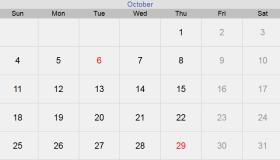 تقويم شهر أكتوبر 2020 التقويم الميلادي لشهر (10) تشرين الأول 2020 بالإجازات