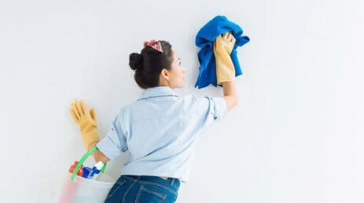 تنظيف حوائط المنزل
