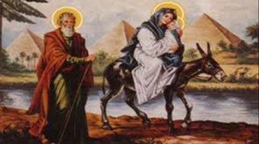 رحلة العائلة المقدسة من غزة إلى سيناء