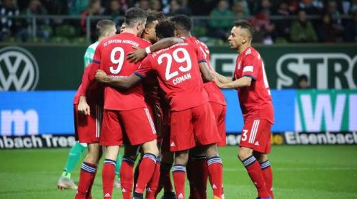 موعد مباراة بايرن ميونخ وفيردر بريمن السبت 14-12-2019 والقنوات الناقلة | الدوري الألماني