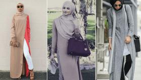 أحدث فساتين وأزياء وعبايات مفتوحة من الأمام والجنب 2019 بالصور