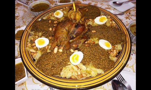 طريقة تحضير الرفيسة المغربية بالدجاج