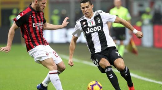 موعد مباراة يوفنتوس وميلان الخميس 13-2-2020 والقنوات الناقلة | كأس إيطاليا