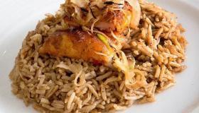 طريقة تحضير أرز الصيادية البني