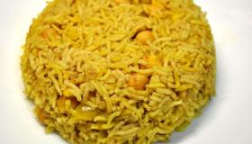 طريقة تحضير الأرز بالحمص