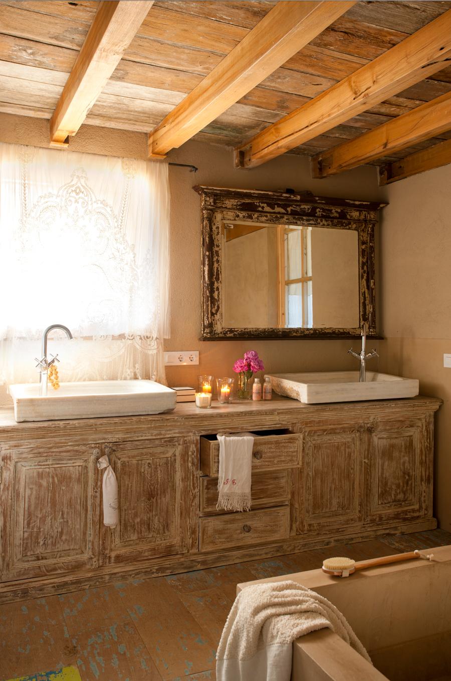 Muebles De Lavabo Rusticos Muebles Cuarto Bano Con Lavabo