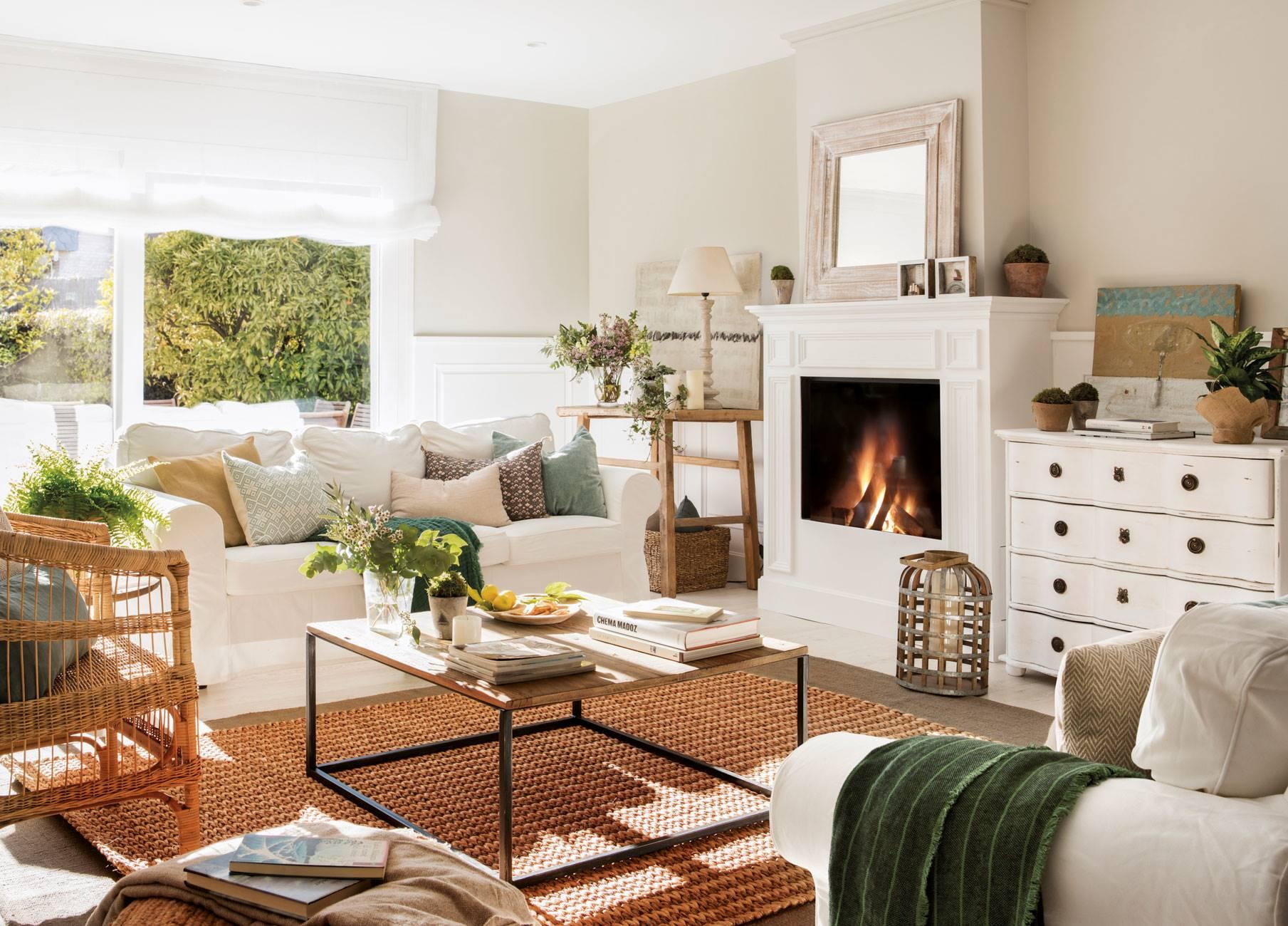 20 salones con sofas de ikea